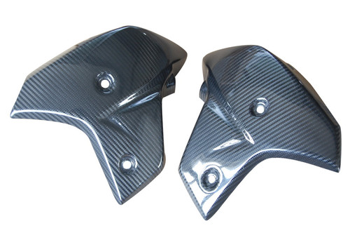 Radiator Covers in Glossy Twill Weave Carbon Fiber for Yamaha FZ8 2010-2013