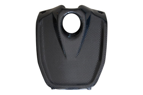 Key Cover ( w/internal lugs) in Glossy Plain Weave Carbon Fiber for Aprilia Shiver 2007-2010