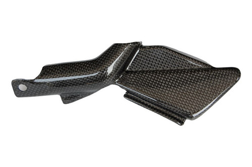 Tank Panel in Glossy Plain Weave Carbon  Fiber for Aprilia Shiver 2007-2010