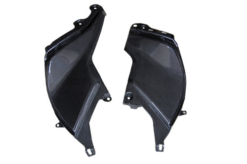Side Fairings in Glossy Plain Weave Carbon Fiberfor Aprilia Mana 850 2008-2014