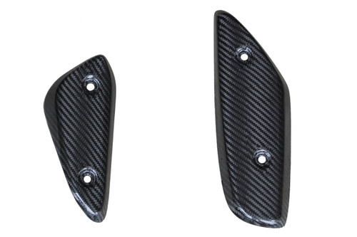 Heel Plates in Glossy Twill Weave Carbon Fiber for Aprilia Mana 850 2008-2014
