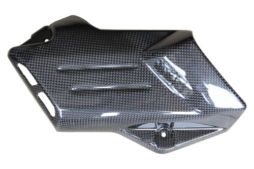 Side Panel in Glossy Plain Weave Carbon Fiber for Aprilia Mana 850 2008-2014