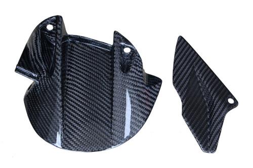 Rear Hugger in Glossy Plain Weave Carbon Fiber for Aprilia Dorsoduro 750, 900, 1200