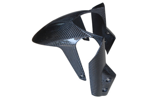 Lower Front Fender in Glossy Twill Weave Carbon Fiber for Aprilia Dorsoduro 750, 900, 1200
