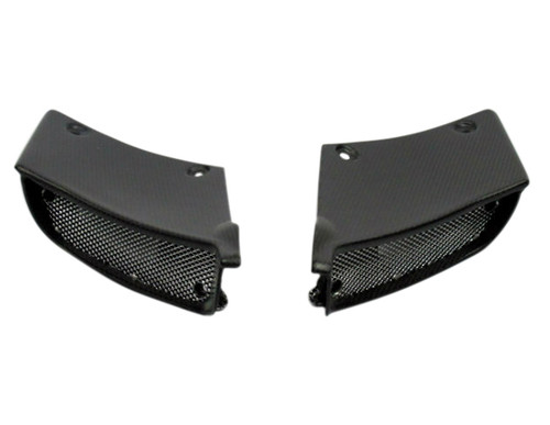 Air Intake Covers in Matte Plain Weave Carbon Fiber for Ducati Diavel  2011-2013