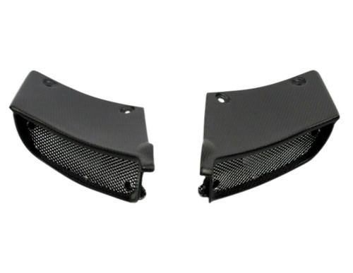 Air Intake Covers in Matte Plain Weave Carbon Fiber for Ducati Diavel  2011-2013