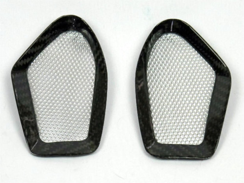 Air Intake Covers in Glossy Twill Weave Carbon Fiber for Ducati Monster  696,796,1100, EVO