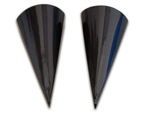 Air Duct Cylinder (2pcs) in Glossy Plain Weave Carbon Fiber for Ducati Monster