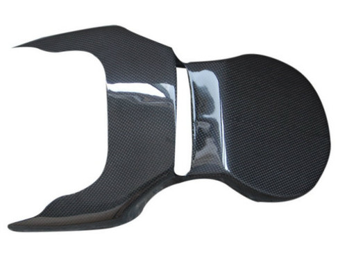 License Plate Holder in Glossy Plain Weave Carbon Fiber for Ducati Monster