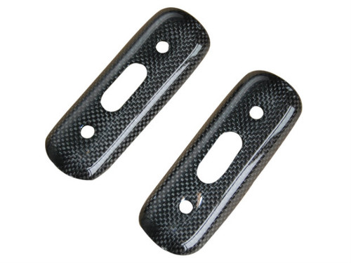 Exhaust Covers in Glossy Plain Weave Carbon Fiber for Ducati Monster S2R,S4R, S4RS