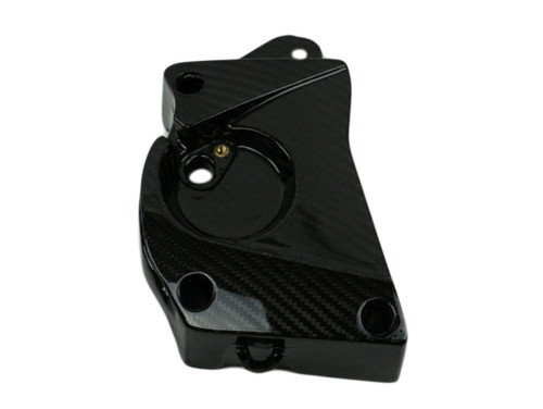 Front Sprocket Cover (Style 2) in Glossy Twill Weave Carbon Fibre  for BMW S1000RR 09-14, S1000R