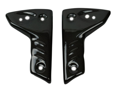 Mini Radiator Covers in Glossy Plain Weave Carbon Fiber for Triumph Speed Triple 1050 05-10