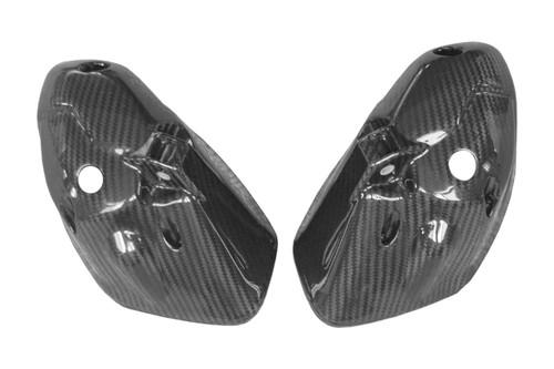 Headlight Bowls in Glossy Twill Weave Carbon Fiber for Triumph Speed Triple 1050 2011-2015, Street Triple 2012-2016
