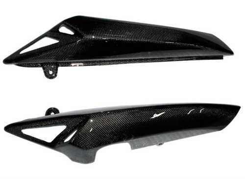 Seat Panels in Glossy Plain Weave Carbon Fiber for Triumph Speed Triple 1050 08-10