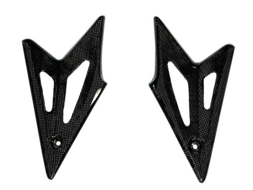 Lower Side Panels in Glossy Plain Weave Carbon Fiber for Triumph Speed Triple 1050 05-10
