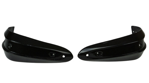 Hand Guards in Glossy Twill Weave Carbon Fiber for Triumph Street Triple 07-12
