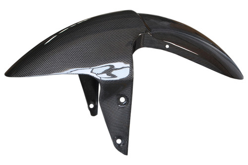 Front Fender in Glossy Plain Weave Carbon Fiber for Triumph Street Triple 2007-2012