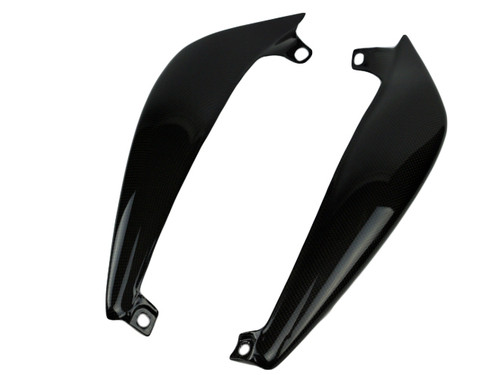 Long Side Panels in Glossy Plain Weave Carbon Fiber for Triumph Street Triple 07-12