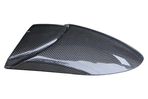 Fender Extender in Glossy Plain Weave Carbon Fiber for Triumph Street Triple 07-12, Daytona 675 06-12