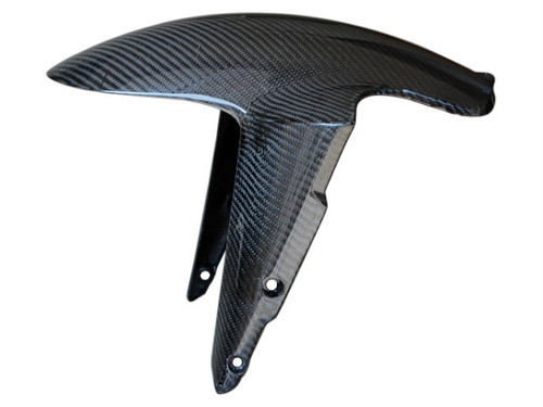 Front Fender in Glossy Twill Weave Carbon Fiber for Ducati Streetfighter