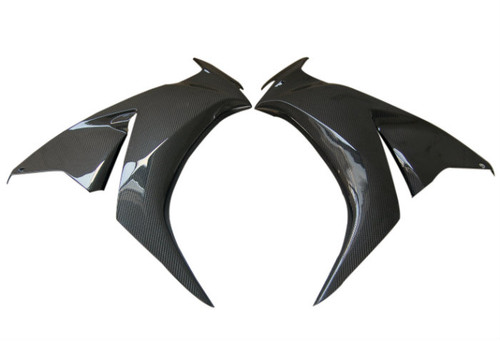 Side Fairings in Glossy Plain Weave Carbon Fiber for Honda CBR 1000RR 12-16