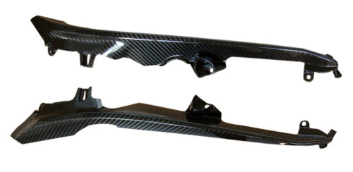 Side Panels (B) in Glossy Twill Weave Carbon Fiber for Honda CBR 1000RR 12-16