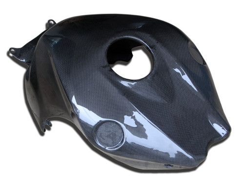 Tank Cover in Glossy Plain weave carbon fiber for Honda CBR1000RR 08-11