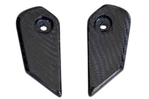 Lateral Fairing Protectors in Glossy Twill Weave Carbon Fiber for Honda CBR1000RR 08-11