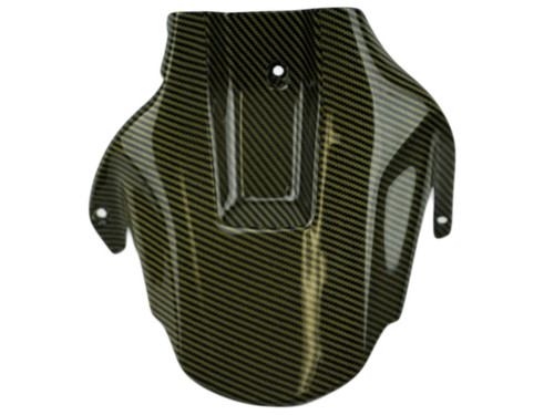 Rear Hugger in Black and Yellow Glossy Twill Weave Carbon Fiber for Honda CBR1000RR 04-07