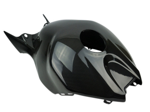 Tank Cover in Glossy Twill Weave Carbon Fiber for Honda CBR1000RR 06-07