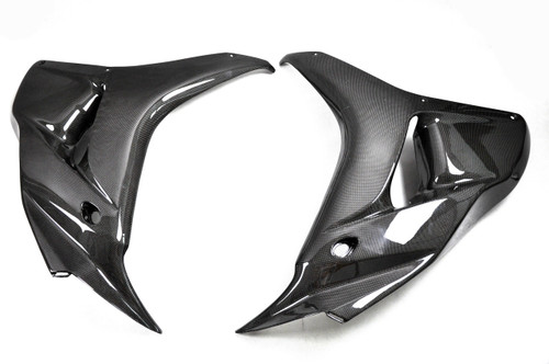 Large Side Panels in Glossy Plain Weave Carbon Fiber for Honda CBR1000RR 06-07