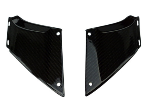 Small Infills in Glossy Twill Weave Carbon Fiber for Honda CBR1000RR 06-07