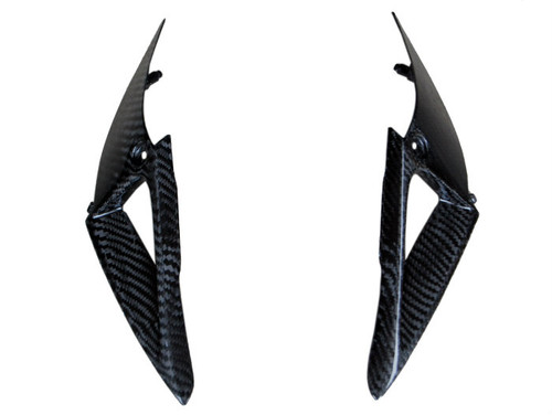 Front Air Duct Covers in Glossy Twill Weave Carbon Fiber for Honda CBR1000RR 04-05