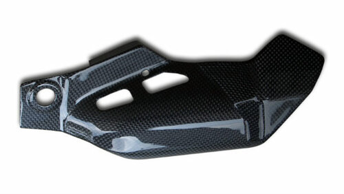 Lower Heat Shield (A) in Glossy Twill Weave Carbon Fiber for Honda CBR600RR 09-12