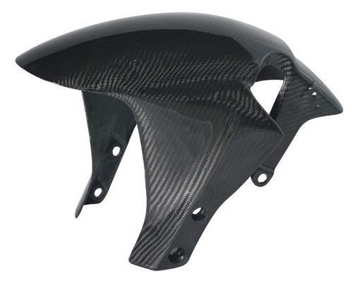Front Fender in Glossy Twill Weave Carbon with Fiberglass for Honda CBR600RR 05-06