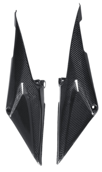 Under Tank Covers in Glossy Plain Weave Carbon with Fiberglass for Honda CBR600RR 05-06