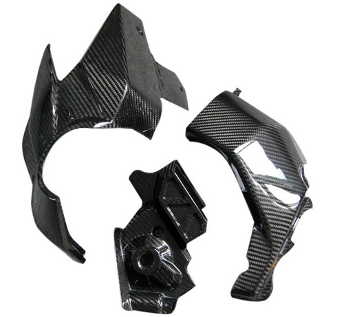 Lateral Engine Panels Set in Glossy Twill Weave Carbon Fiber for Honda VFR1200F