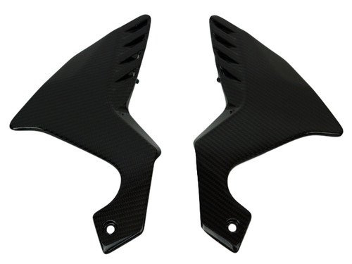 Frame Side Panels in Glossy Twill Weave Carbon Fiber for Honda VFR1200F