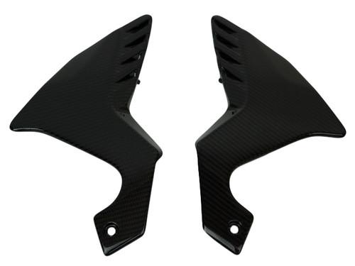 Frame Side Panels in Glossy Twill Weave Carbon Fiber for Honda VFR1200F