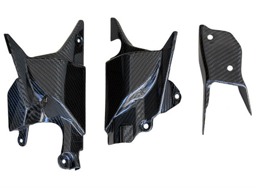 Lateral Panel Set (3pcs) in Glossy Twill Weave Carbon Fiber for Honda VFR800 02-13