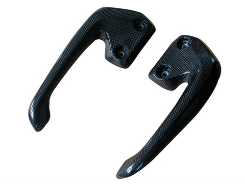 Passenger Handles in 100% Carbon Fiber for Honda VFR800 02-13  Glossy Plain Weave shown