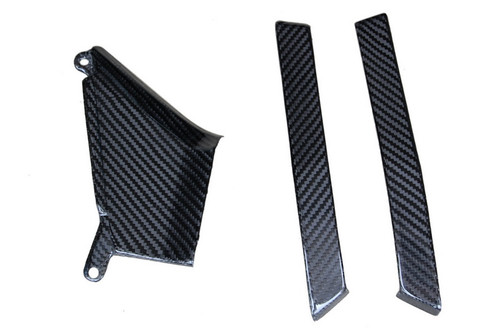 Lateral Panel Accessories in Glossy Twill Weave Carbon Fiber for Honda CB1000R