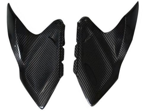Side Panels (B) in Glossy Twill Weave Carbon Fiber for Kawasaki Z1000/ Ninja 1000 2014+