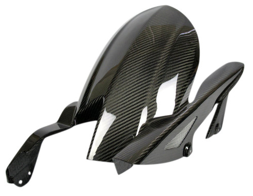 Rear Hugger with Chain Guard in Glossy Twill Weave Carbon Fiber for Kawasaki Z1000/ Ninja 1000 2014+
