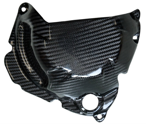 Clutch Cover (version 2) in Glossy Twill Weave Carbon Fiber for Kawasaki Z1000/ Ninja 1000 2010+