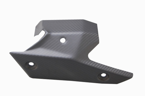 Exhaust Cover (b) in Matte Twill Weave Carbon Fiber for Kawasaki ZX6R 2013-2018