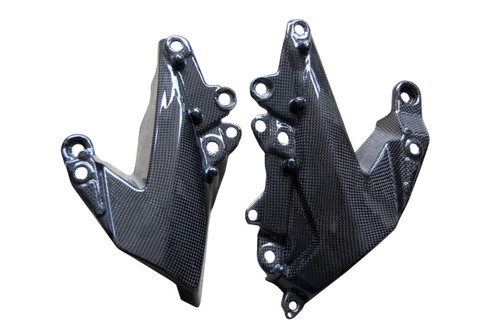 Lower Side Panels in Glossy Plain Weave Carbon Fiber for Kawasaki ZX6R 2009-2012