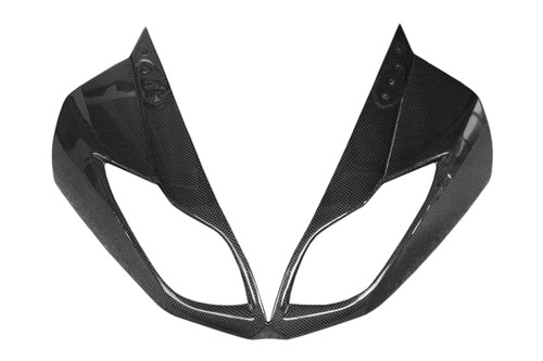 Front Fairing in Glossy Plain Weave Carbon Fiber for Kawasaki ZX6R 2009-2012