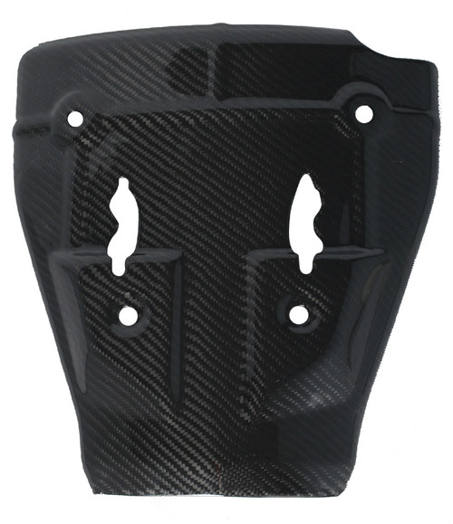 Lower Heat Shield in Glossy Twill Weave Carbon Fiber for Kawasaki ZX6R 2005-2006