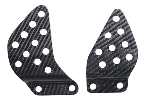 Heel Plates in Glossy Twill Weave Carbon Fiber for Kawasaki ZX6R 2003-2004